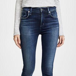 Agolde Sophie skinny high rise crop jeans